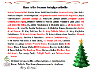 Christmas donors
